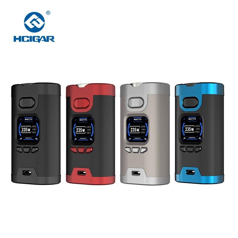 Original HCIGAR Wildwolf 235W TC Box Mod Vape Dual 18650 Battery TFT Touch Screen vape mod Electronic Cigarette Vaporize Mods