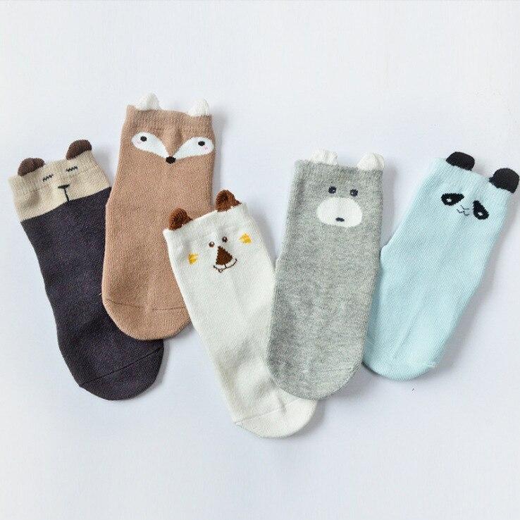5pairs Pack Cotton Cute Cartoon Newborn Infant Toddler Girls Boys Toddler Short Baby Socks