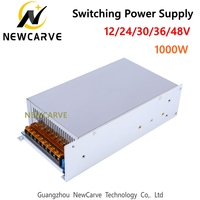 Switching Power Supply 1000W Input AC 220V Output DC 0 12V 24V 30V 36V 48V Transformer For CNC Engraving Machine Newcarve