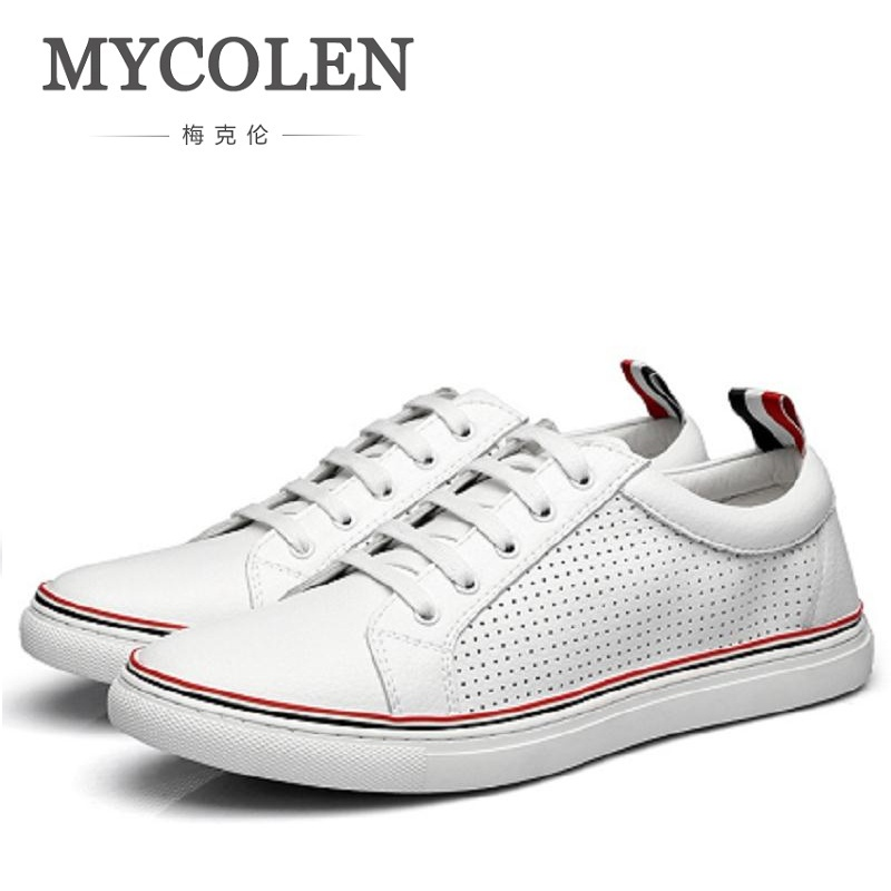 MYCOLEN New 2018 Hot Fashion Men Flat White Shoe Canvas Men'S Flats Shoes Men Casual Breathable Shoes Spring Autumn Men Shoes
