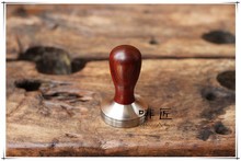 1pc Professional Handmade Dalbergia retusa(cocobollo)wooden Handle 51/58/58.35mmStainlessSteelbase CoffeeEspresso Tamper Barista
