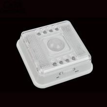 8 LED Motion Sensor Light Wireless Infrared Home Indoor Outdoor PIR Auto Sensor Motion Detector LED Night Light Lamp