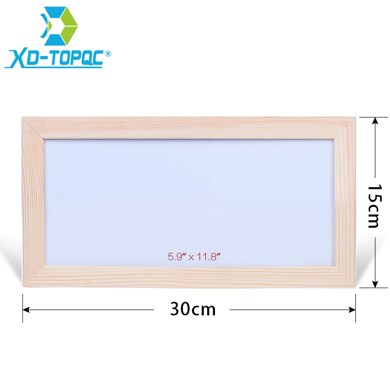 XINDI 15*30cm Mini Kids Whiteboard Dry Erase Original Pine Wood Frame Magnetic Drawing White Board Message Writing Boards WB39 desktop message blackboard pine wood easel chalkboard kids wooden memo black board collapsible writing boards