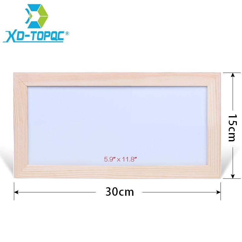 XINDI 15*30cm Mini Kids Whiteboard Dry Erase Original Pine Wood Frame Magnetic Drawing White Board Message Writing Boards WB39