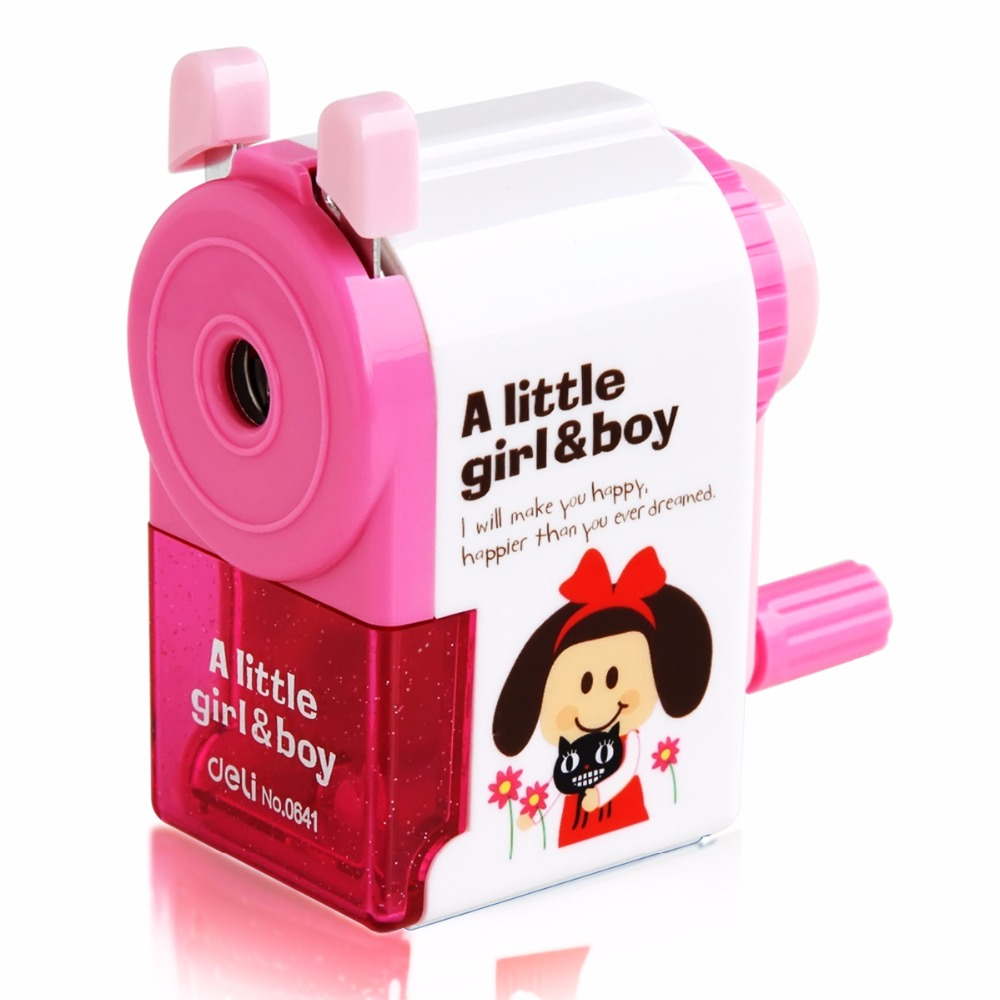 Kwaii Deli Mechanical pencil sharpener Stationary Office apontador Hand-operated manual sharpener School supplies for kids deli 0722 cute pencil sharpener stationery mechanical pencil school