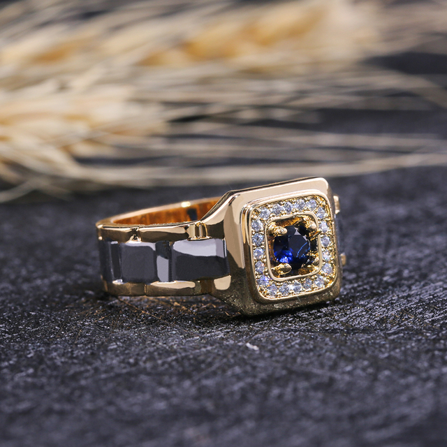 Watch Shaped Two Tone Ring 3