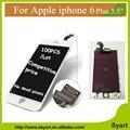 Teste aaa gread qualidade 5.5 polegada tela para iphone 6 plus display lcd screentouch digitador assembléia vidro (preto Branco) ferramentas