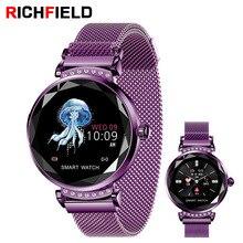 Купить с кэшбэком RICHFIELD Women Fitness Bracelet Heart Rate Blood Pressure activity tracker Smart Watch pulsera inteligente actividad For Women