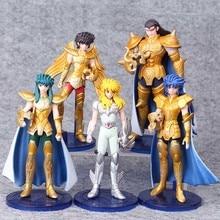 5 pçs/set 15 centímetros Saint Seiya Ação Pvc Toy Figura Anime Japonês Saint Seiya Modelo de Exibição Brinquedos Jouet Presente de Aniversário Das Crianças