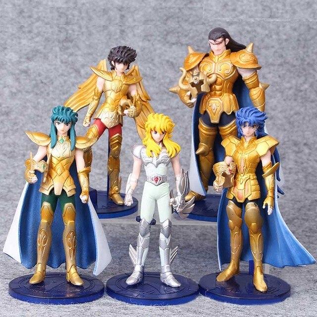 5pcs/set 15 cm Saint Seiya Pvc Action Figure Toy Japanese Anime Saint Seiya Display Model Toys Children Birthday Jouet Gift