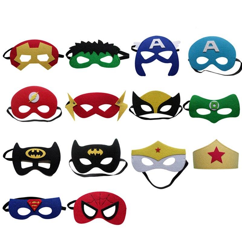 Liberal 15 Teile/los Maskerade Baby Kinder Kinder Super Hero Super Hero Halbe Gesicht Auge Maske Kostüm Party Halloween Masken Geburtstag Geschenke