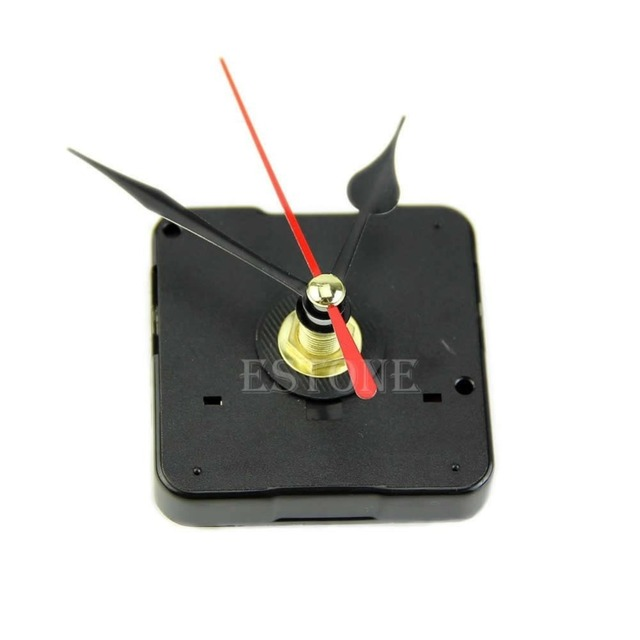 Quartz Wall Clock Movement Mechanism Repair Tool Kit with Black & Red Hands
