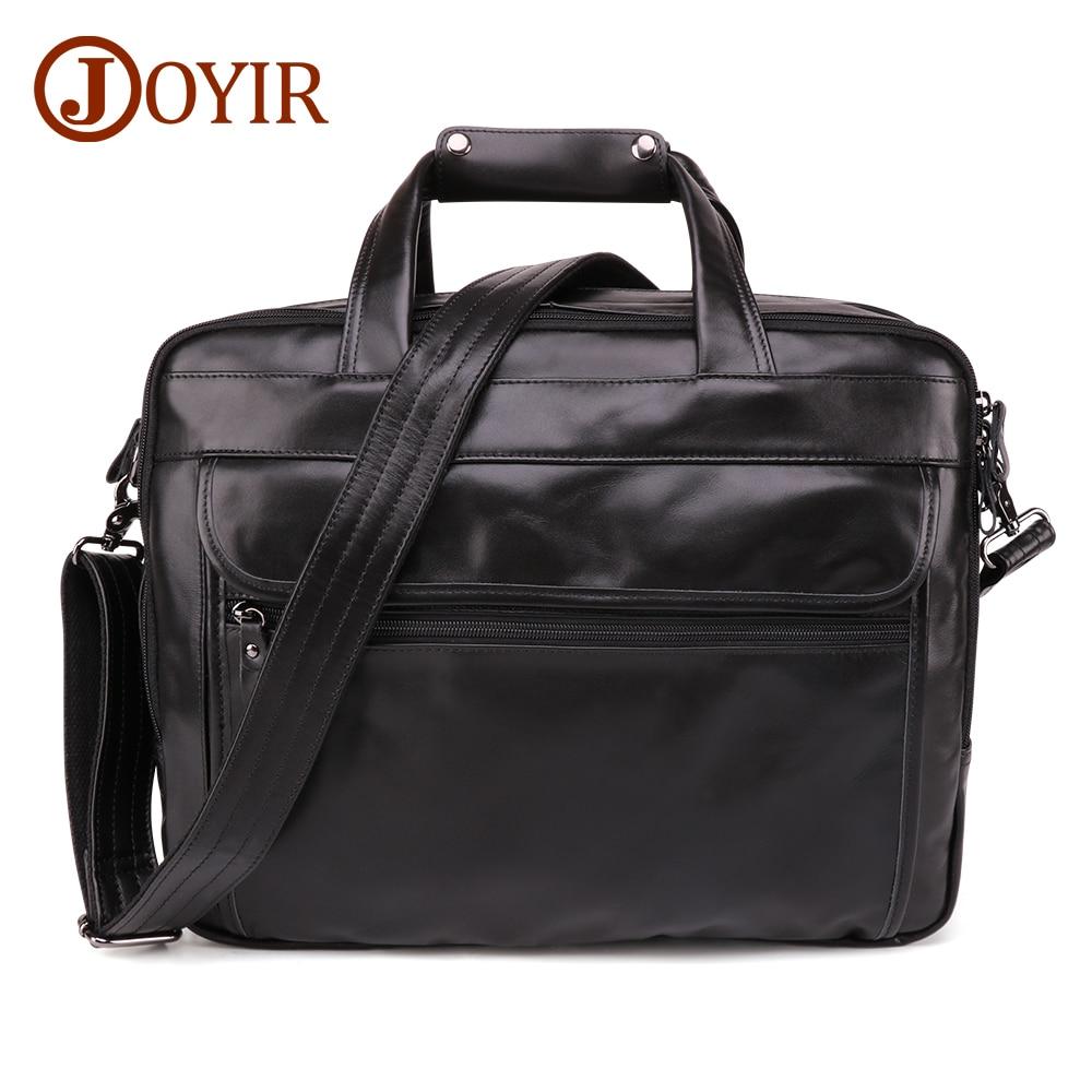 JOYIR Genuine Leather Men's Briefcase 15