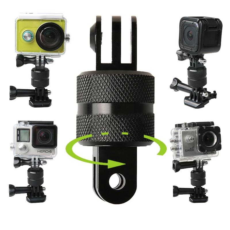 360 graus girar câmera braçadeira de montagem mergulho luz preenchimento abs bola clipe para go pro herói 5 4 3 2 1 para xiaomi yi sj4000 sj7000 cam