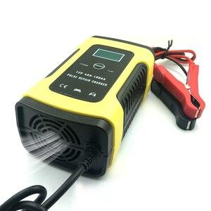 Image 3 - たわしウォッシュクリーニングツール 12 v 5A スマート鉛酸バッテリー充電器パルス修理充電器 lcd ディスプレイ