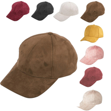 Suede Solid Color Baseball Cap Adjustable Men And Women Fashion Hat Accessories Outdoor Riding Sports And Leisure Cap 2018 New hat new men s baseball cap spring and autumn outdoor sports and leisure old man dad single cap
