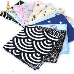 Фирменная Новинка для мужчин хлопок платок темно печатных карман квадратный Свадебные см 25 см * 25 Hankies для классический