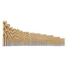 99 шт. ручные сверла биты 1.5 мм-10 мм titanium покрытием hss Высокоскоростной Стали Сверло Набор Brocas Бурового Инструмента Для металла