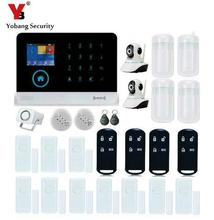YobangSecurity Touch Keypad Wireless GSM RFID WiFi GPRS Intelligent Alarm Security System with Video IP Camera Smoke Fire Sensor