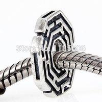 Retro in Argento sterling 925 Labirinto Branelli del distanziatore di fascini Gioielli bracciali & collane per le donne