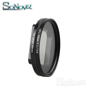 Image 4 - Filtro de lente circular para go pro hero 4, filtro de lente polarizante circular de 58mm cpl para gopro hero 4 hero 5 sessão