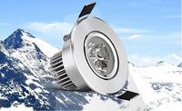 Envío gratis 1 unids 3 W llevó el downlight celular, led ceilling luz, garantía de 2 año, techo downlight blanco/caliente de la iluminación blanca