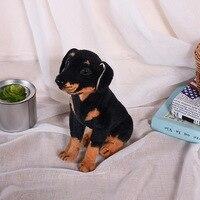 about 36cm squatting Rottweiler simulation dog plush toy soft doll birthday gift w1000
