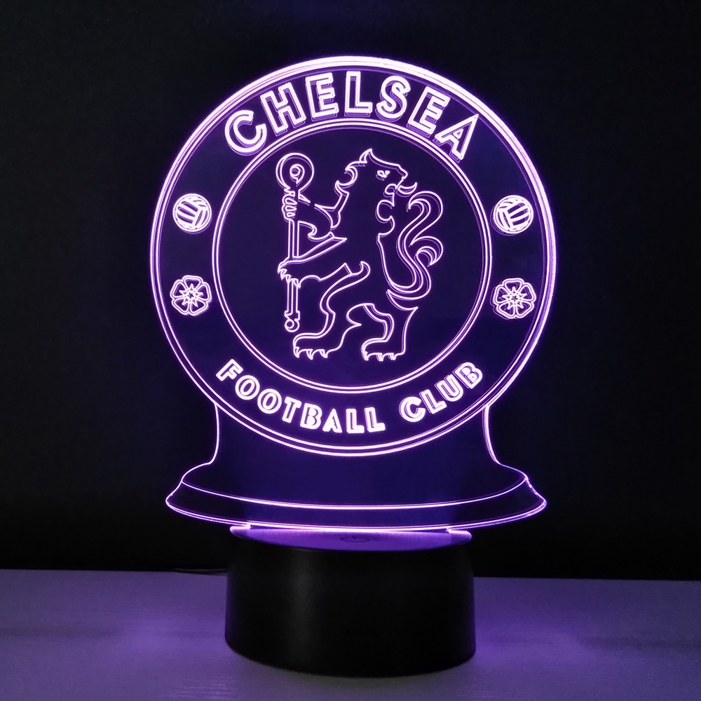 led desk lamp football club chelsea night light bedroom 3d table lampe energy saving nightlights. Black Bedroom Furniture Sets. Home Design Ideas