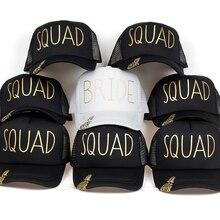 7ebf5b19 pineapple BRIDE SQUAD Baseball Caps Golden Print New Style Hats Women  Wedding White Black Bachelor party