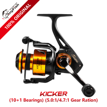 Anyfish KICKER Spinning Fishing Reel 2000/3000/4000/5000/6000 gear ratio 5.0:1/4.7:1 max drag 6kg/8kg 10+1 bearings saltwater OK