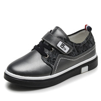 2017 Spring Autumn Genuine Leather Kids Causal Shoes Student High Quality Flat Children Shoes Black School