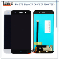 For ZTE Blade X7 D6 V6 Z7 T660 LCD Display+5.0 Inch Black White Touch Screen Digitizer Assembly Replacement For ZTE V6 LCD Parts