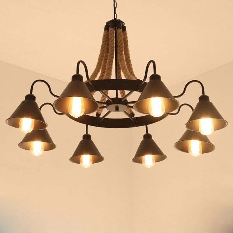 Nordic Retro Fixtures Post-modern Chandelier living room hanging lights Restaurant Lamps Bar Lighting Cafe Chandeliers цена 2017