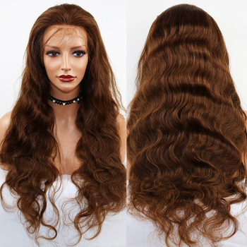 SimBeauty 6 Body Wave Lace Front Human Hair Wigs For Women Pre Plucked Hairline With Baby Hair Brazilian Remy Hair Full Lace Wig