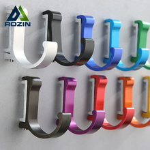 Aluminum Finish Candy Color Clothes Hanger & Towel & Coat & Robe Hook Decorative Bathroom Hooks Wall Mounted Free Shipping