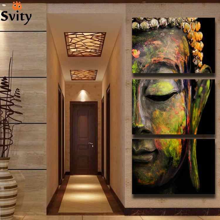 Free shipping buddha painting wall art canvas paintings picture paints home decor Giveaways wall sticker F008