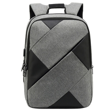 LJL-New Contrast Color Backpack Men And Women Oxford Cloth Casual Computer