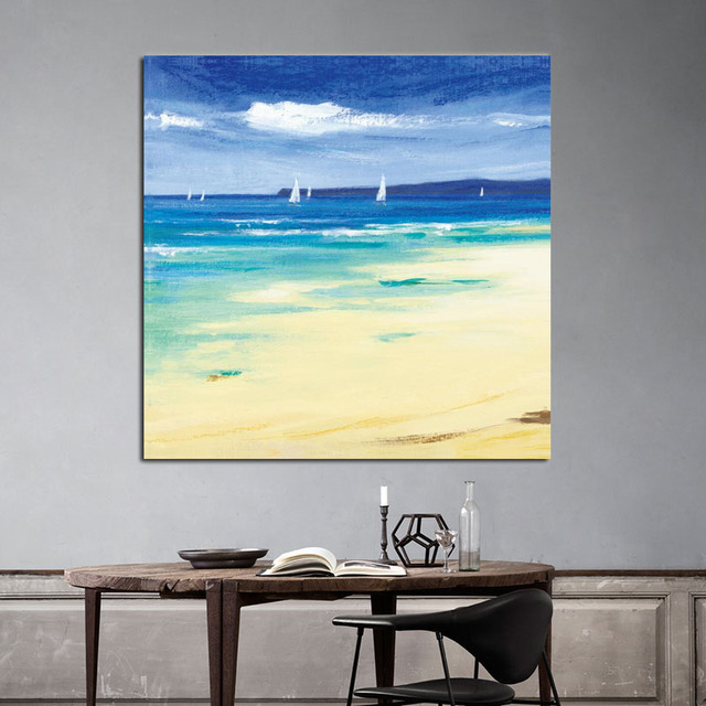 Sea And Salling Boat Wall Art Paintings Large Size Seascape Home ...