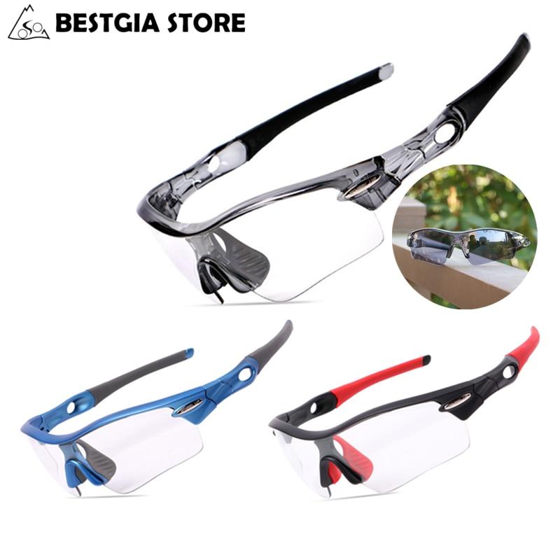 c2016f0123 3 lentes fotosensibles Ciclismo gafas miope Marcos polarizadas Gafas de sol  MTB Road Bicicletas gafas Pesca bicicleta Gafas en Gafas de ciclismo de  Deportes ...
