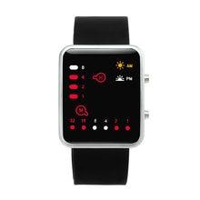 5071ca694f1b Women s Fashion Ladies Men Digital Red LED Sport Watch Smart Children  Binary Watch Comfort Silicone Sports Bracelet reloj mujer