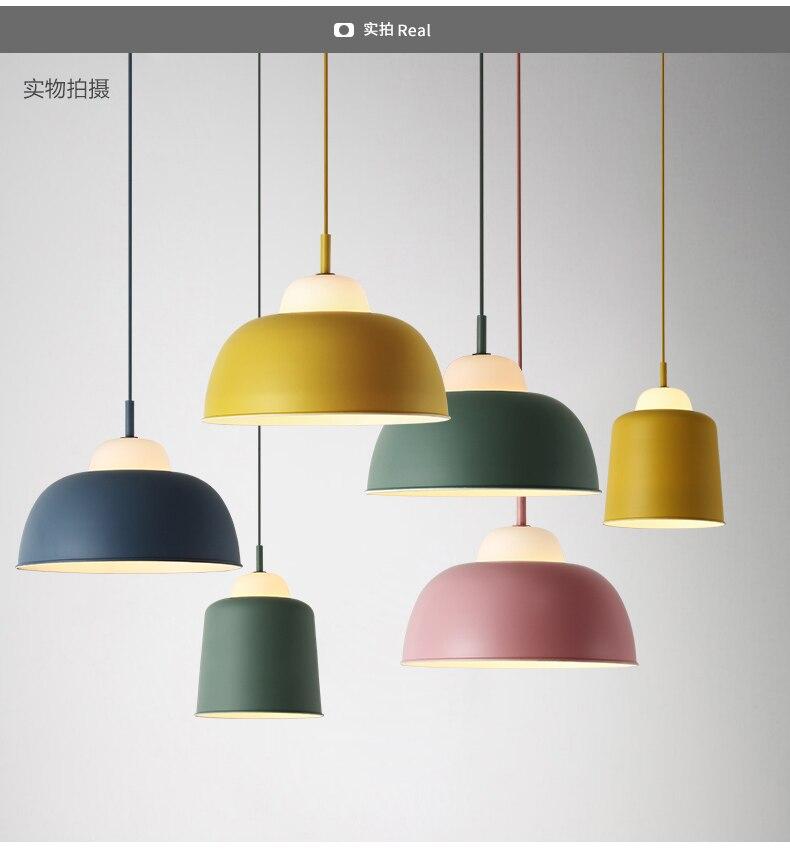 Moderno Nordic AMBIT Lampade a sospensione Danimarca Colorato Macaron di Alluminio lampada A sospensione A LED Da Cucina Ristorante Apparecchi di Luce Luce di Soffitto
