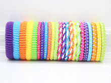 Kids elastic hair bands 24 pieces/lot neon color different style ponytail holders for women girls hair accessories