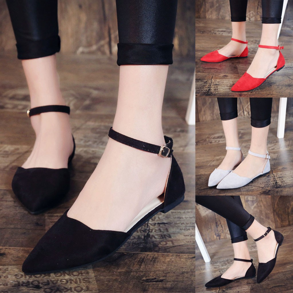 Gut Ausgebildete Youyedian Frauen Schnalle Low Heels Pumps Spitz Flock Heels Sandalen Schuhe Zapatos De Mujer Chaussures Femme Ete 2019 # Y3 Frauen Schuhe Schuhe