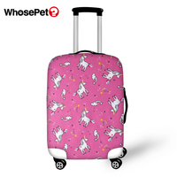 WHOSEPET Travel Luggage Protective Cover Cartoon Horse Prints Waterproof Suitcase Cover Dust proof Little Animal Suitcase Cover