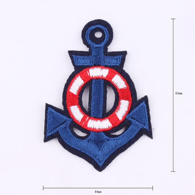 Anchor Embroidered Iron On Patch