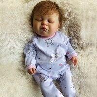 20 inch полный Винил кремния Reborn Baby Doll богатых живопись bebe реалистичные куклы реборн Bonecas Игрушки для девочек подарок на день рождения