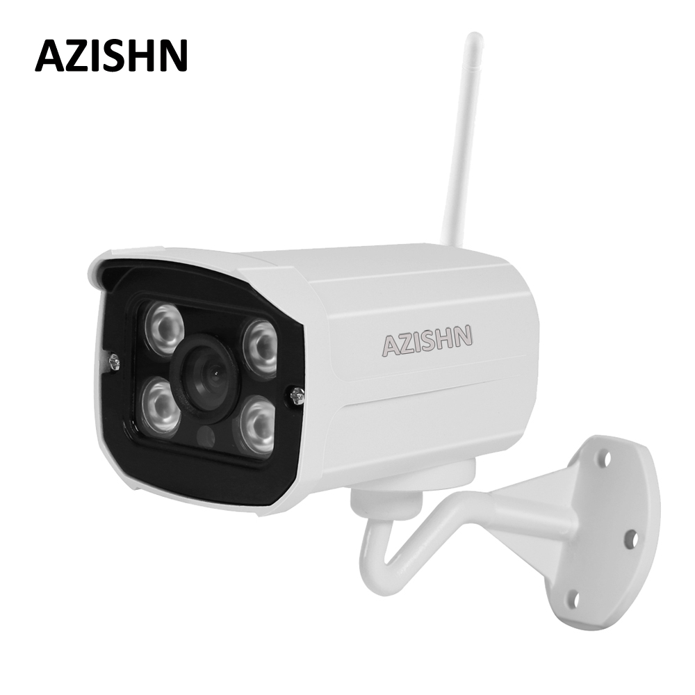 AZISHN Wifi IP CCTV Camera 720P 960P 1080P Wired wireless Yoosee Security metal Outdoor Camera 4IR