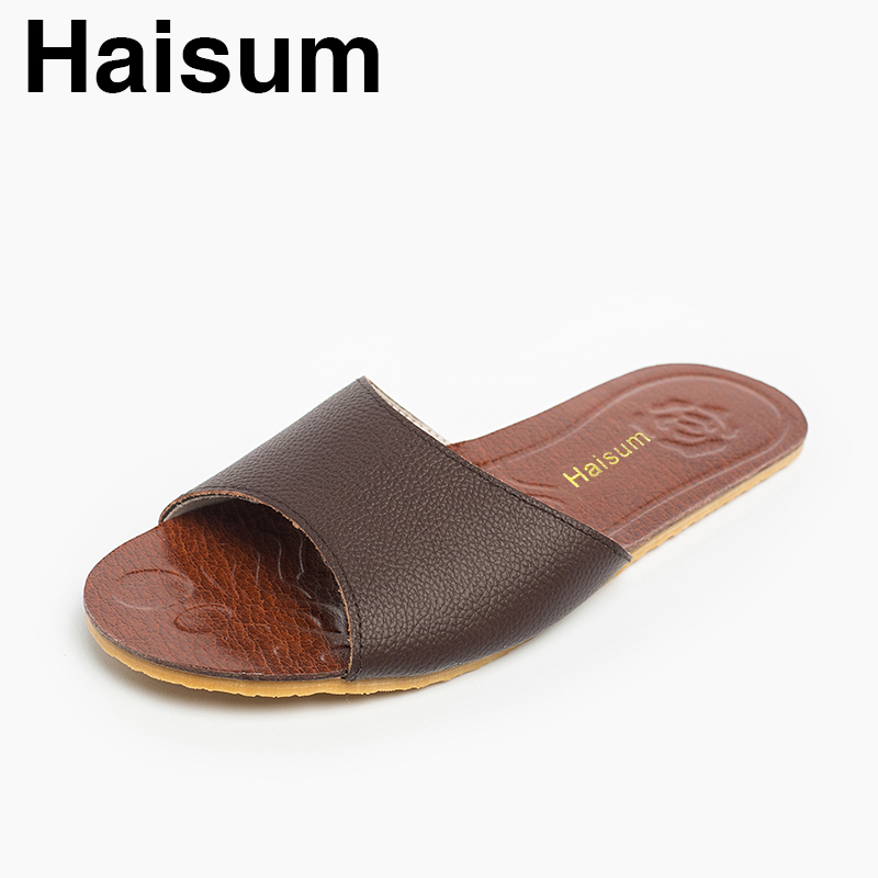 Men's Slippers Spring And Summer genuine Leather Home Indoor Slip Non-slip Slippers 2018 New Hot H-8805 casima 8805 gl7