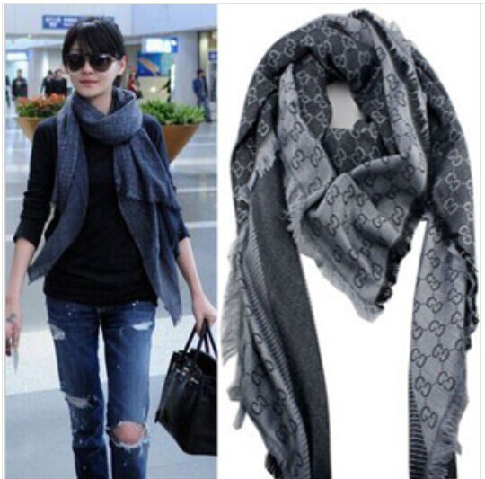 High Quality Cashmere Euro Fashion New Style Classic Brand Women Scarf Printing Letter Shawl