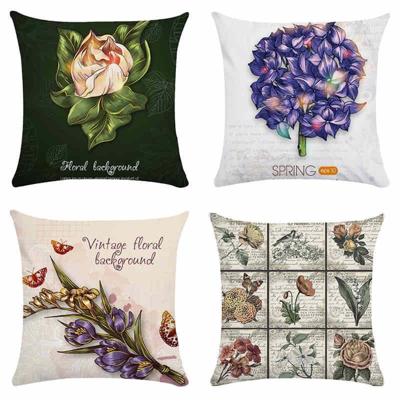 Фото Подушка Подарочная серия цветы домашний декор наволочки покрытия для подушек 45*45
